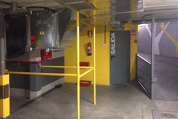 sistema proteccion incendios en garaje